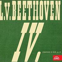 Přední strana obalu CD Beethoven: Symfonie č. 4 B dur, Král Štěpán. Předehra, op. 117