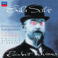 Přední strana obalu CD Satie: Gnossiennes; Gymnopédies; Ogives; Trois Sarabandes; Petite ouverture a danser.