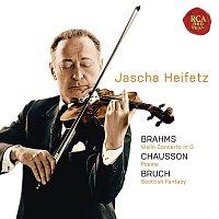 Jascha Heifetz, Max Bruch – Brahms: Violin Concerto in D; Chausson: Poeme; Bruch: Scottish Fantasy