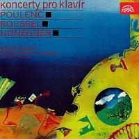 Přední strana obalu CD Koncerty pro klavír a orchestr. Poulenc, Roussel, Honegger