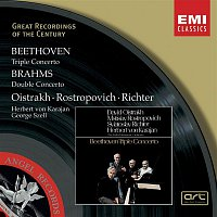 Mstislav Rostropovich, Herbert von Karajan, Berliner Philharmoniker, Sviatoslav Richter, George Szell, David Oistrakh, Cleveland Orchestra – Beethoven: Triple Concerto/Brahms: Double Concerto
