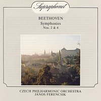 Přední strana obalu CD Beethoven: Symfonie č. 2 a 4