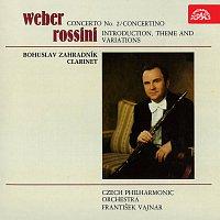 Bohuslav Zahradník, Česká filharmonie, František Vajnar – Weber, Rossini: Skladby pro klarinet a orchestr