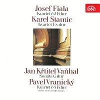 Přední strana obalu CD Fiala: Kvartet č. 2 F dur - Stamic: Kvartet Es dur - Vaňhal: Sonáta G dur - Vranický: Kvartet č. 3 F dur