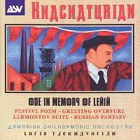 Přední strana obalu CD Khachaturian: Ode In Memory Of Lenin; Festive Poem; Greeting Overture; Lermontov Suite; Russian Fantasy