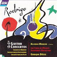 Přední strana obalu CD Rodrigo: The 3 Guitar Concertos - Concierto de Aranjuez; Fantasía para un Gentilhombre; Concierto para una Fiesta