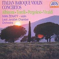 Přední strana obalu CD Albinoni, Torelli, Pergolesi, Vivaldi: Italské barokní houslové koncerty