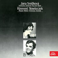Přední strana obalu CD Jana Smítková (Smetana, Janáček, Puccini, Bizet), Klement Slowiczek (Mozart, Weber, Smetana, Dvořák)