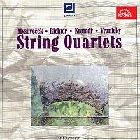 Přední strana obalu CD Smyčcové kvartety (Mysliveček, Richter, Krommer-Kramář, Vranický)