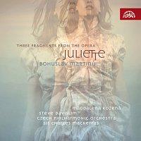 Přední strana obalu CD Martinů: Suita z Julietty, Tři fragmenty z Julietty
