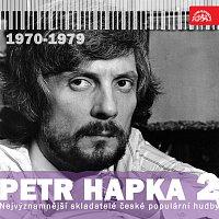 Přední strana obalu CD Nejvýznamnější skladatelé české populární hudby Petr Hapka 2 (1970-1979)