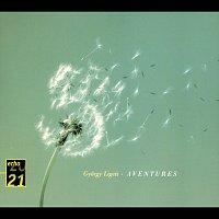 Přední strana obalu CD Ligeti: Volumina; Organ Study No.1; Three Pieces for Two Pianos; Aventures; Nouvelles Aventures; Mysteries