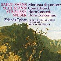 Přední strana obalu CD Weber, Strauss, Saint-Saëns, Schumann: Concertino e moll, Koncert c moll, Morceau de concert, Koncertní skladba