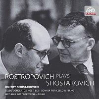 Přední strana obalu CD Rostropovič hraje Šostakoviče. Russian Masters