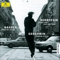 Přední strana obalu CD Gershwin: Rhapsody in Blue / Barber: Adagio for Strings / Bernstein: On the Town; Candide