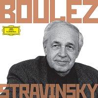 Přední strana obalu CD Boulez Conducts Stravinsky