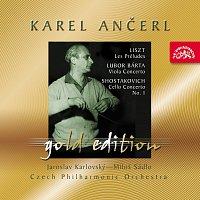 Přední strana obalu CD Ančerl Gold Edition 42. Liszt: Preludia - Bárta: Koncert pro violu - Šostakovič: Koncert pro violoncello