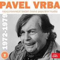 Přední strana obalu CD Nejvýznamnější textaři české populární hudby Pavel Vrba 2 (1972 - 1979)