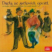 Přední strana obalu CD Dueta ze světových operet (von Suppé, Offenbach, Millöcker, Fall, Lehár, Kálmán)