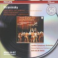 Přední strana obalu CD Stravinsky: Petrushka; The Firebird; The Rite of Spring; Orpheus
