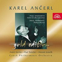 Přední strana obalu CD Ančerl Gold Edition 30. Hindemith: Koncert pro housle a orch., Koncert pro violoncello a orch. - Bořkovec: Koncert pro klavír a orch.