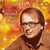 Přední strana obalu CD Pohoda Vánoc. Vánoční večer Miloslava Šimka v divadle Semafor
