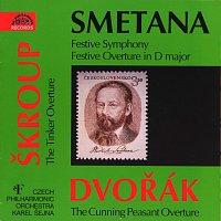 Přední strana obalu CD Smetana: Triumfální symf., Slavnostní předehra / Škroup : Dráteník / Dvořák : Šelma sedlák