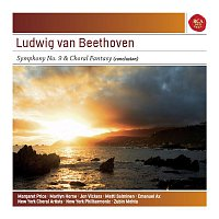 "Zubin Mehta, Ludwig van Beethoven, Margaret Price, Marilyn Horne, Jon Vickers, Matti Salminen, New York Choral Artists, Joseph Flummerfelt, New York Philharmonic – Beethoven: Symphony No. 9 Op. 125 ""Choral"" & Choral Fantasy Conclusion - Sony Classical Masters"