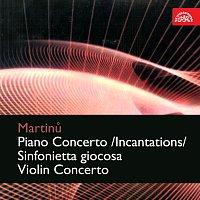 Přední strana obalu CD Martinů: Koncerto pro klavír a orchestr /Inkantace/, Sinfonietta giocosa, Koncert pro housle a orchestr