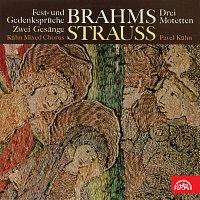 Přední strana obalu CD Brahms, Strauss: Sborové skladby