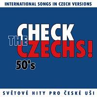 Přední strana obalu CD Check The Czechs! 50. léta - zahraniční songy v domácích verzích