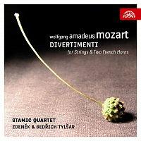 Přední strana obalu CD Mozart: Divertimenta pro smyčcové kvarteto a dva lesní rohy
