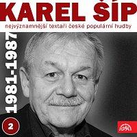 Přední strana obalu CD Nejvýznamnější textaři české populární hudby Karel Šíp 2 (1981 - 1987)