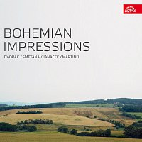 Přední strana obalu CD Bohemian Impressions. Hudba inspirovaná českou krajinou