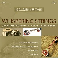 Přední strana obalu CD Golden Krithis  Vol.1 - Whispering Strings (Fusion With Traditional Classical Themes Of India)