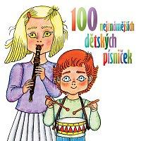 Přední strana obalu CD 100 nejznámějších dětských písniček