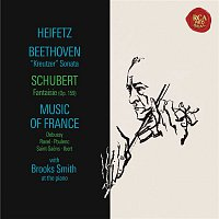 "Jascha Heifetz, Brooks Smith, Franz Schubert – Beethoven: Sonata No. 9 in A Major, Op. 47 ""Kreutzer"" - Schubert: Fantasie in C Major, D. 934 - Debussy: Chansons de Bilitis & Children's Corner -  Ravel: Valses nobles et sentimentales - Poulenc: Mouvements perpétuels - Heifetz Remastered"