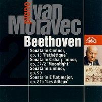 """Přední strana obalu CD Beethoven: Klavírní sonáty """"Patetická"""", """"Měsíční svit"""", """"Les Adieux"""", 32 variací"""
