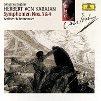 Přední strana obalu CD Brahms: Symphonies Nos.3&4