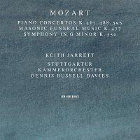 Přední strana obalu CD Mozart: Piano Concertos K. 467, 488, 595; Masonic Funeral Music, K. 477; Symphony In G Minor, K. 550