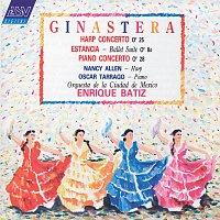 Nancy Allen, Oscar Tarrago, Orquesta Filarmónica de la Ciudad de México – Ginastera: Harp Concerto; Estancia; Piano Concerto