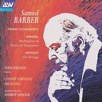 Přední strana obalu CD Barber: Piano Concerto; Medea's Meditation and Dance of Vengeance; Adagio for Strings
