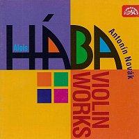 Přední strana obalu CD Hába: Skladby pro housle