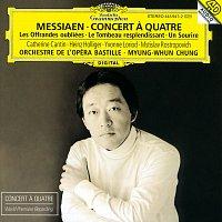 Přední strana obalu CD Messiaen: Concert a quatre / Les Offrandes oubliées / Le Tombeau resplendissant / Un Sourire