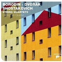 Přední strana obalu CD Borodin, Dvorak & Shostakovich String Quartets