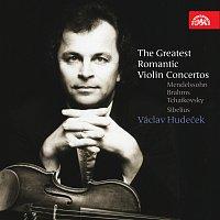 Přední strana obalu CD Největší romantické houslové koncerty - Mendelssohn, Brahms, Čajkovskij & Sibelius