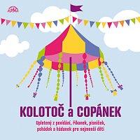 Přední strana obalu CD Kolotoč a Copánek upletený z povídání, říkanek, písniček a hádanek pro nejmenší děti