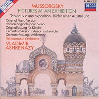 Přední strana obalu CD Mussorgsky: Pictures at an Exhibition (piano version & orchestration)