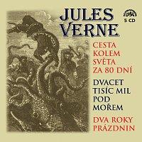 Různí interpreti – Verne: Cesta kolem světa za 80 dní, Dvacet tisíc mil pod mořem a Dva roky prázdnin