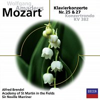 Alfred Brendel, Academy of St. Martin in the Fields, Sir Neville Marriner – Mozart: Klavierkonzert Nr.25 & 27 + Konzertrondo KV382 [Eloquence]